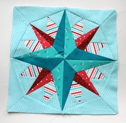 paper piecing star block 1a