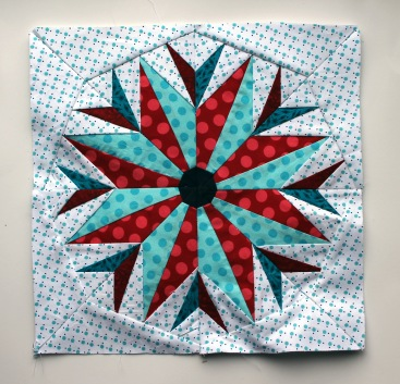 final paper piecing star  block