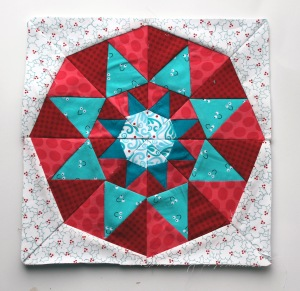 finished paper piecing star block