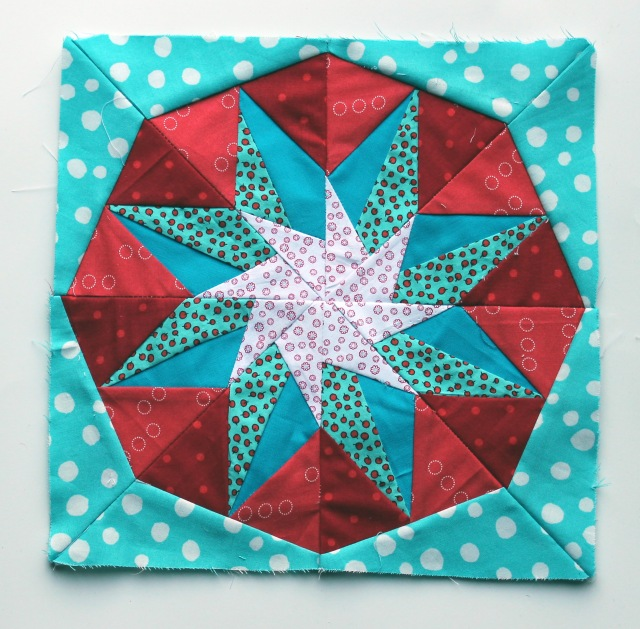 Paper piecing star 2a