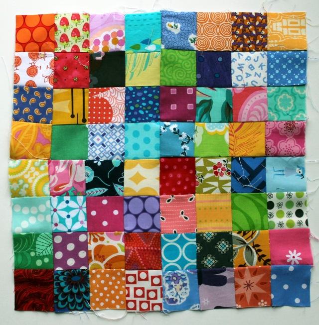 postage stamp quilt block