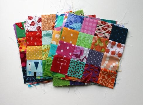 quilt blocks in progress