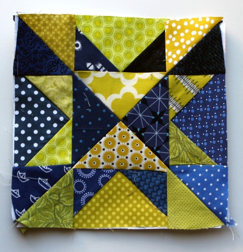 modern ohio star quilt block