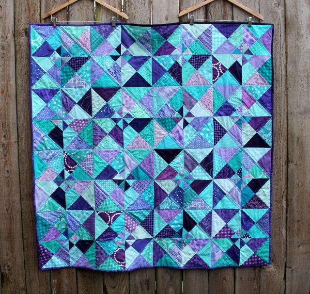 finished double pinwheel quilt