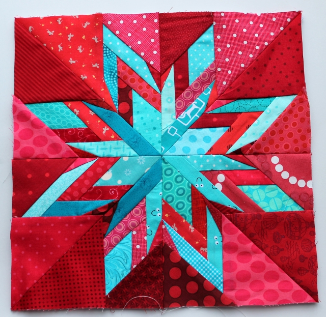 finished ohio star quilt