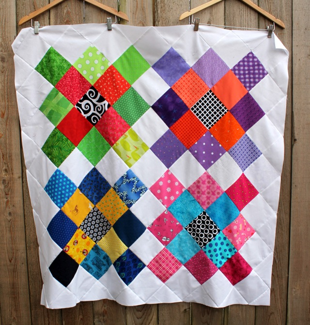 granny square quilt top