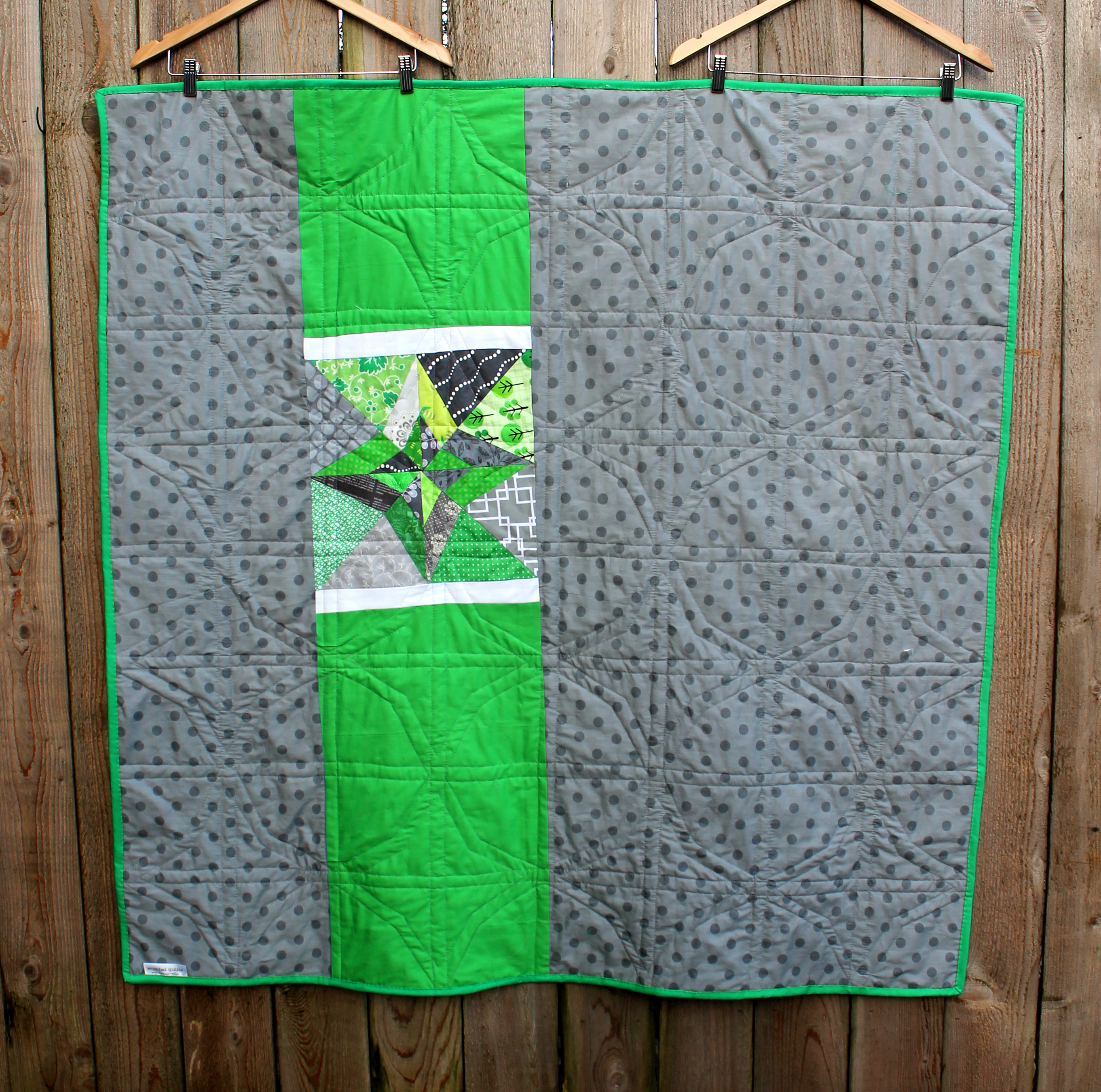 Green Amp Grey Finished Wombat Quilts