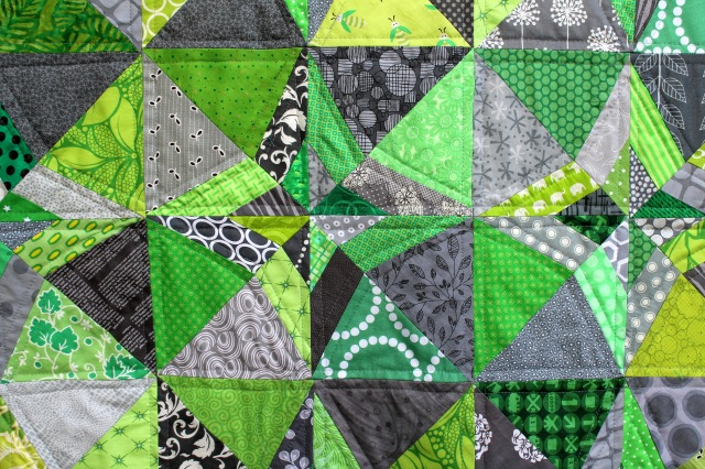 green grey quilt detail 2