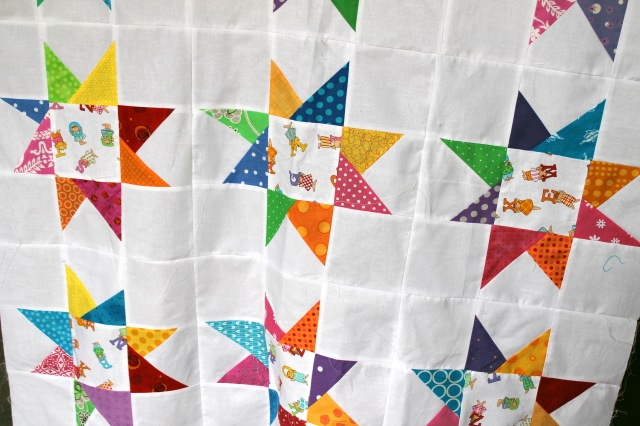 novelty star quilt top