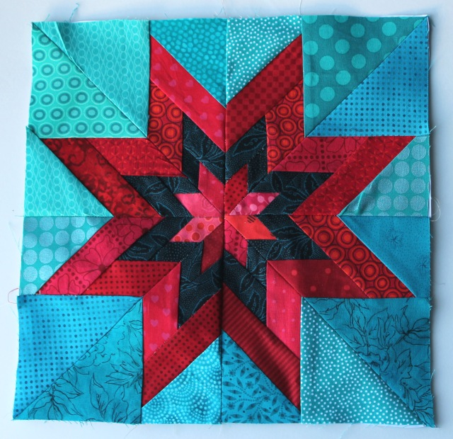 Paper peicing star block 13