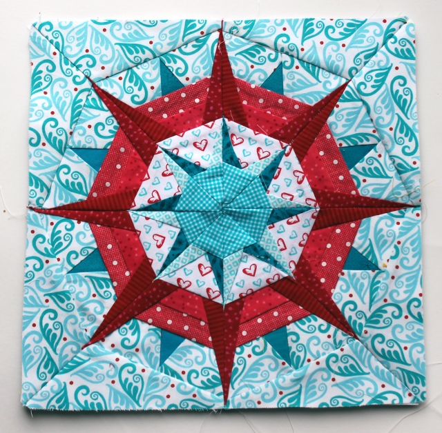 paper peicing star  finished block