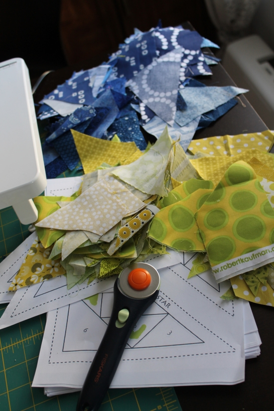 quilting work space
