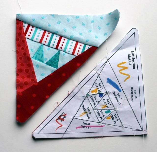 star 11 paper piecing pieces
