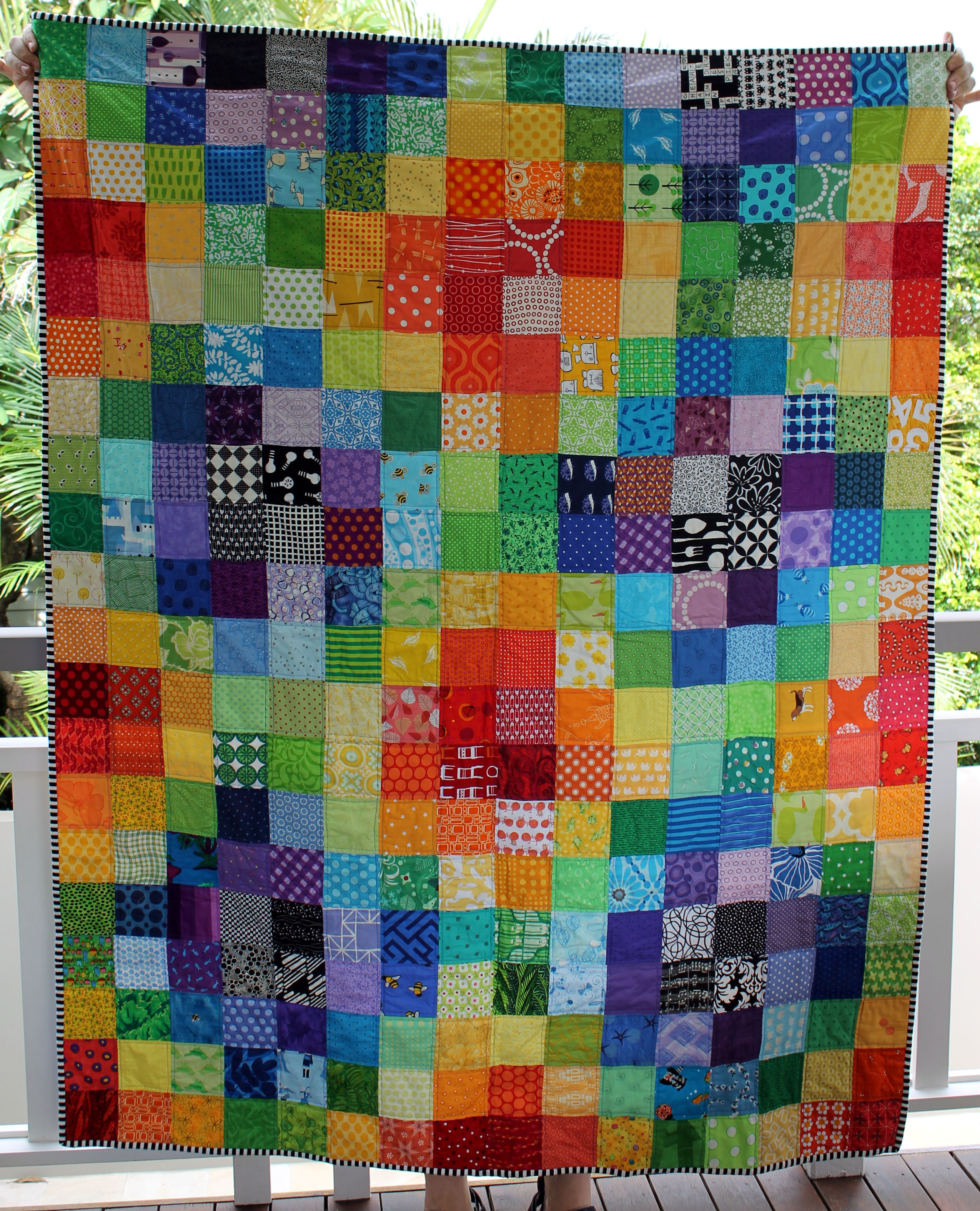 Loud, bright and fun… the quilt | WOMBAT QUILTS