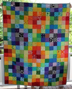 Bright simple modern kids quilt