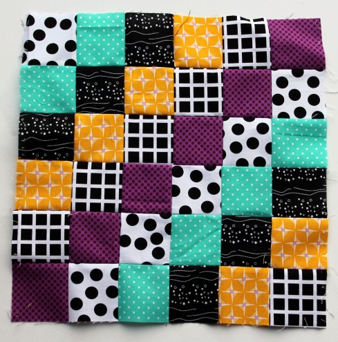trip around block modern bright quilt block