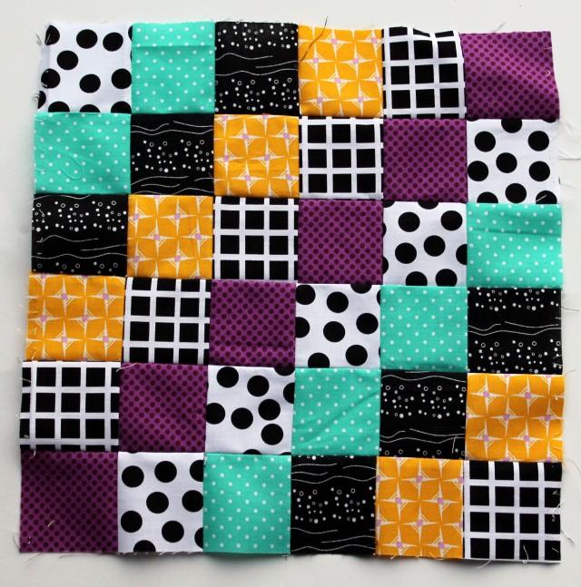 trip around block modern bright quilt block