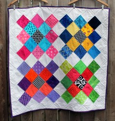 modern large granny square quilt
