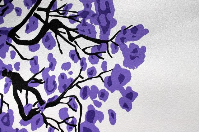 Jacaranda silk screen