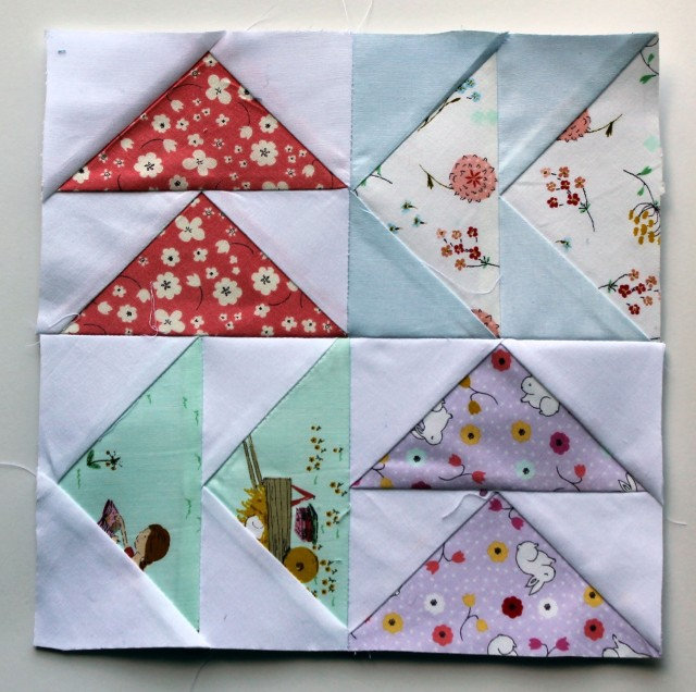 Posy fabric quilt block