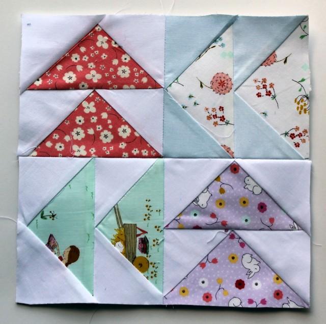 Posy fabric quilt block