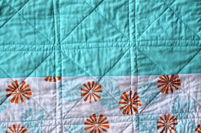 detail ofsimple straight quilting