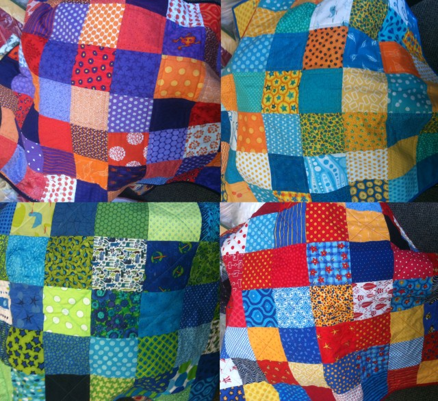 simple bright kids quilts