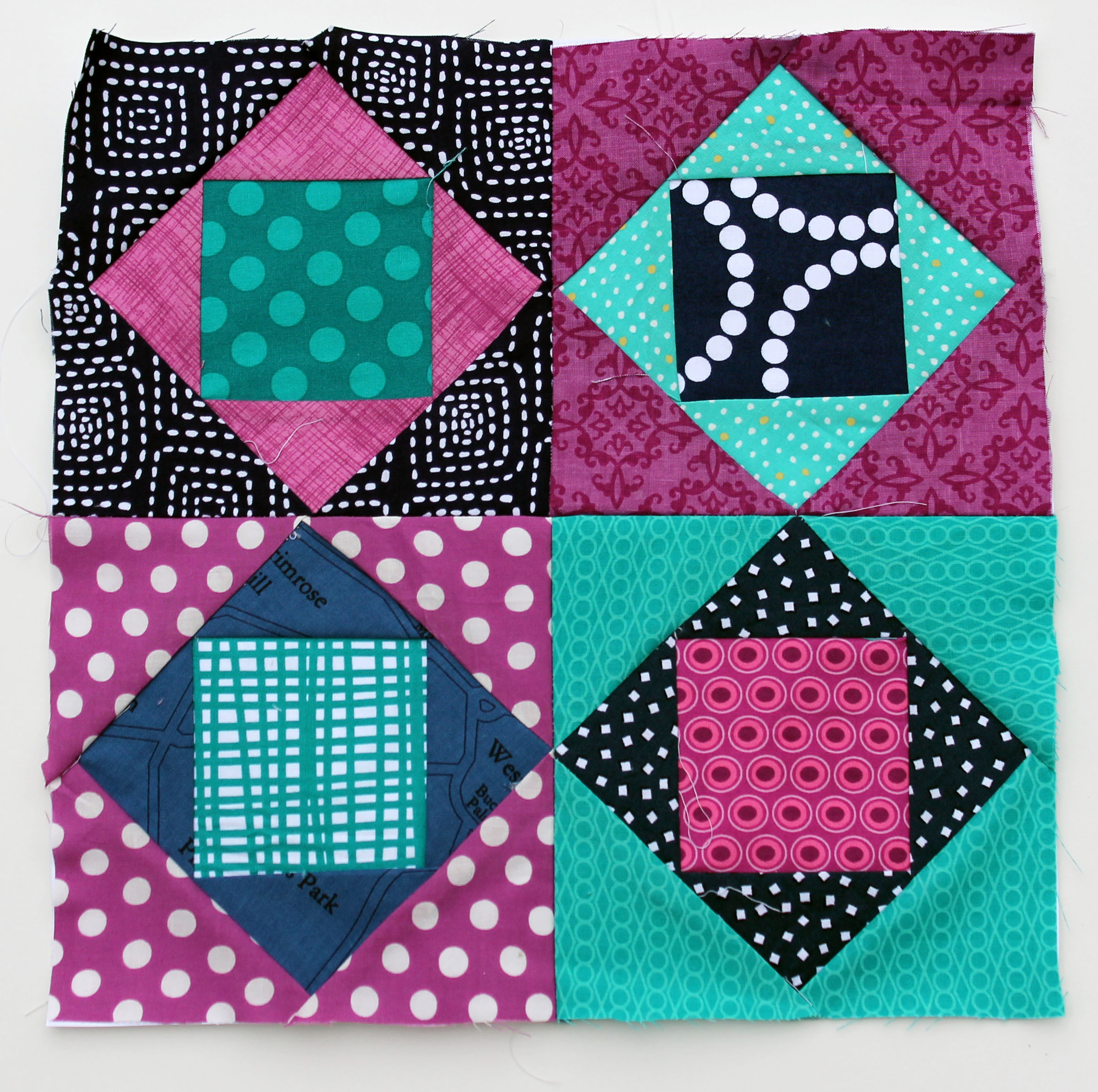 Free Quilt Patterns Square Blocks : Square in Square fun wip Wednesday WOMBAT QUILTS