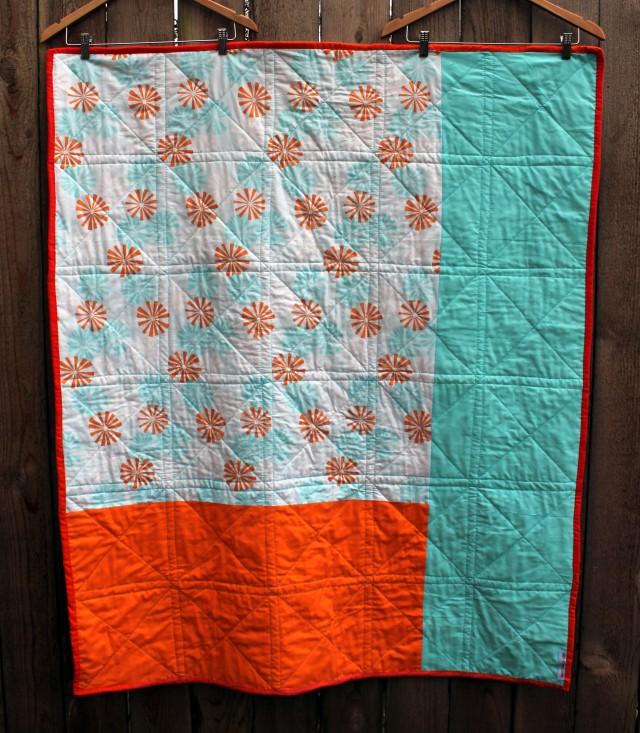 sun & seaback of quilt