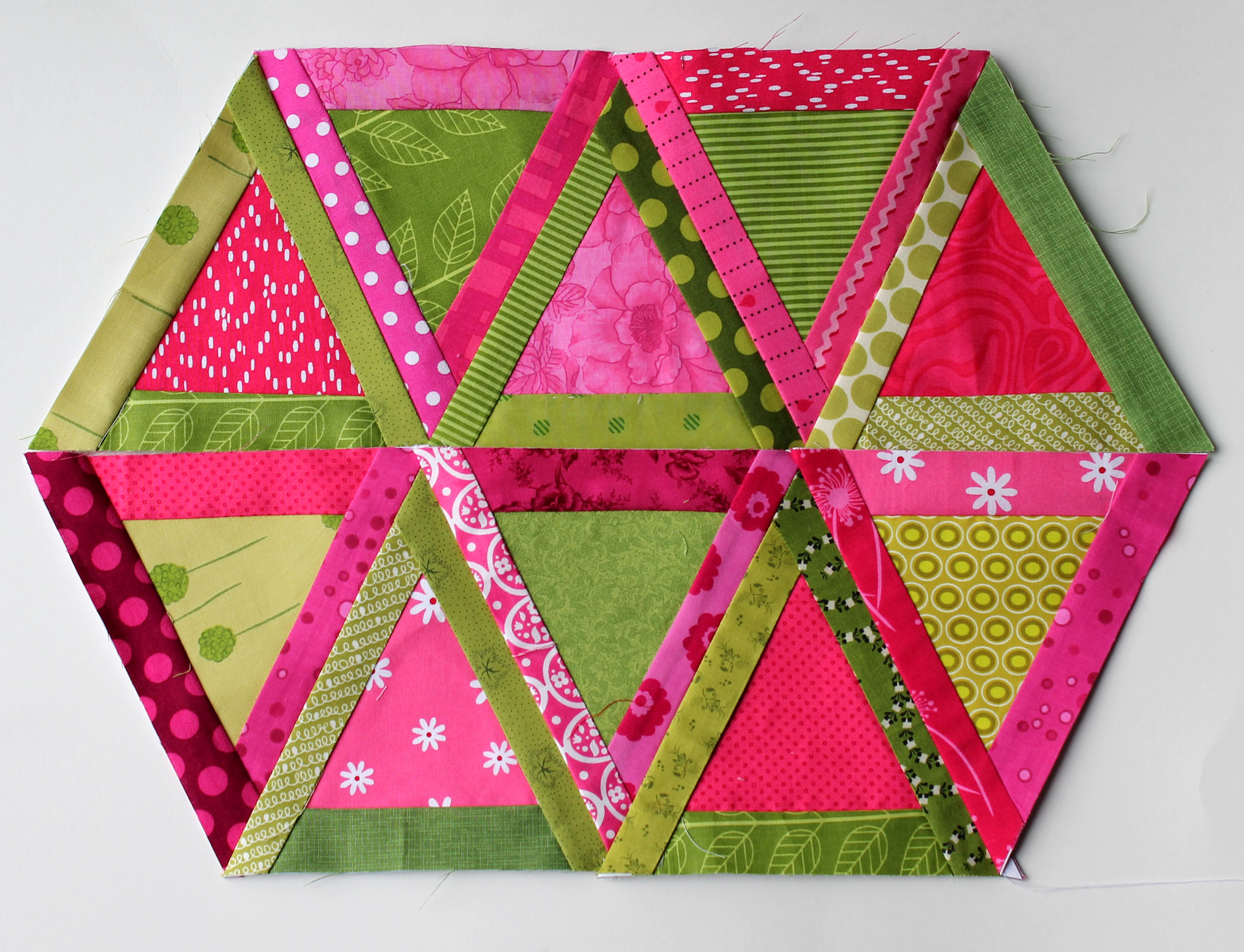 Quilting Pattern Shapes : Triangle Trauma wip Wednesday WOMBAT QUILTS