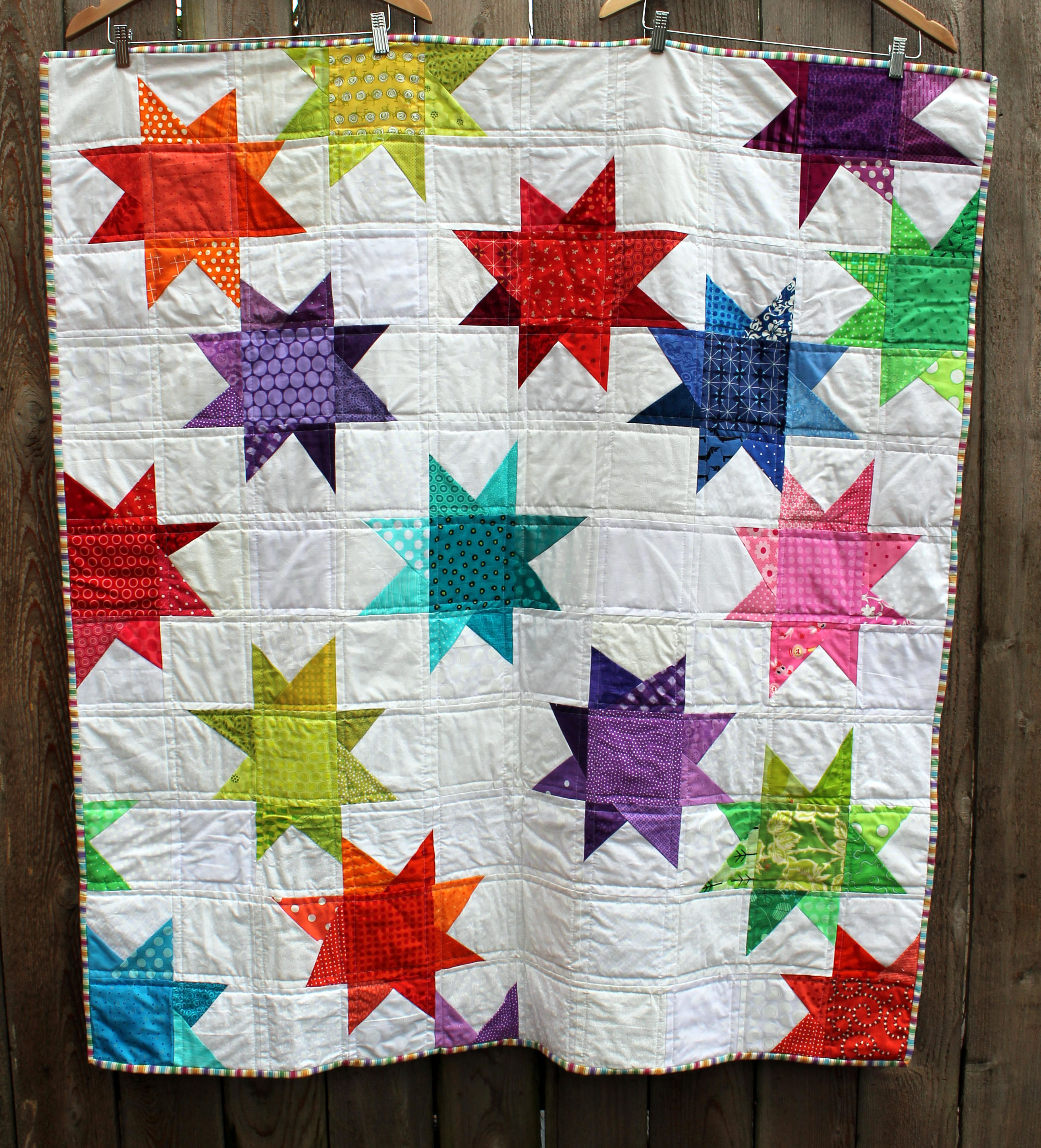 wonky star quilt WOMB QUILS - ^
