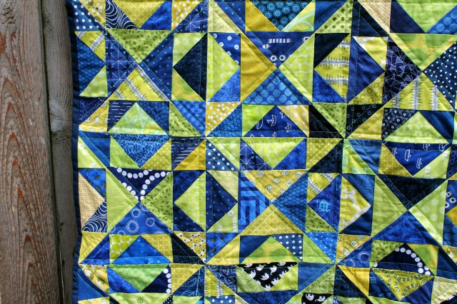 citron arrow quilt detail