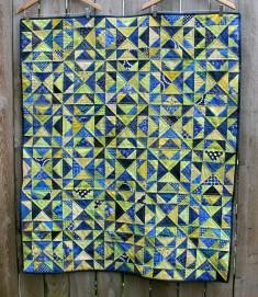 modern bright scrap quilt