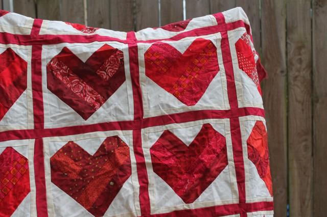 heart quilt top