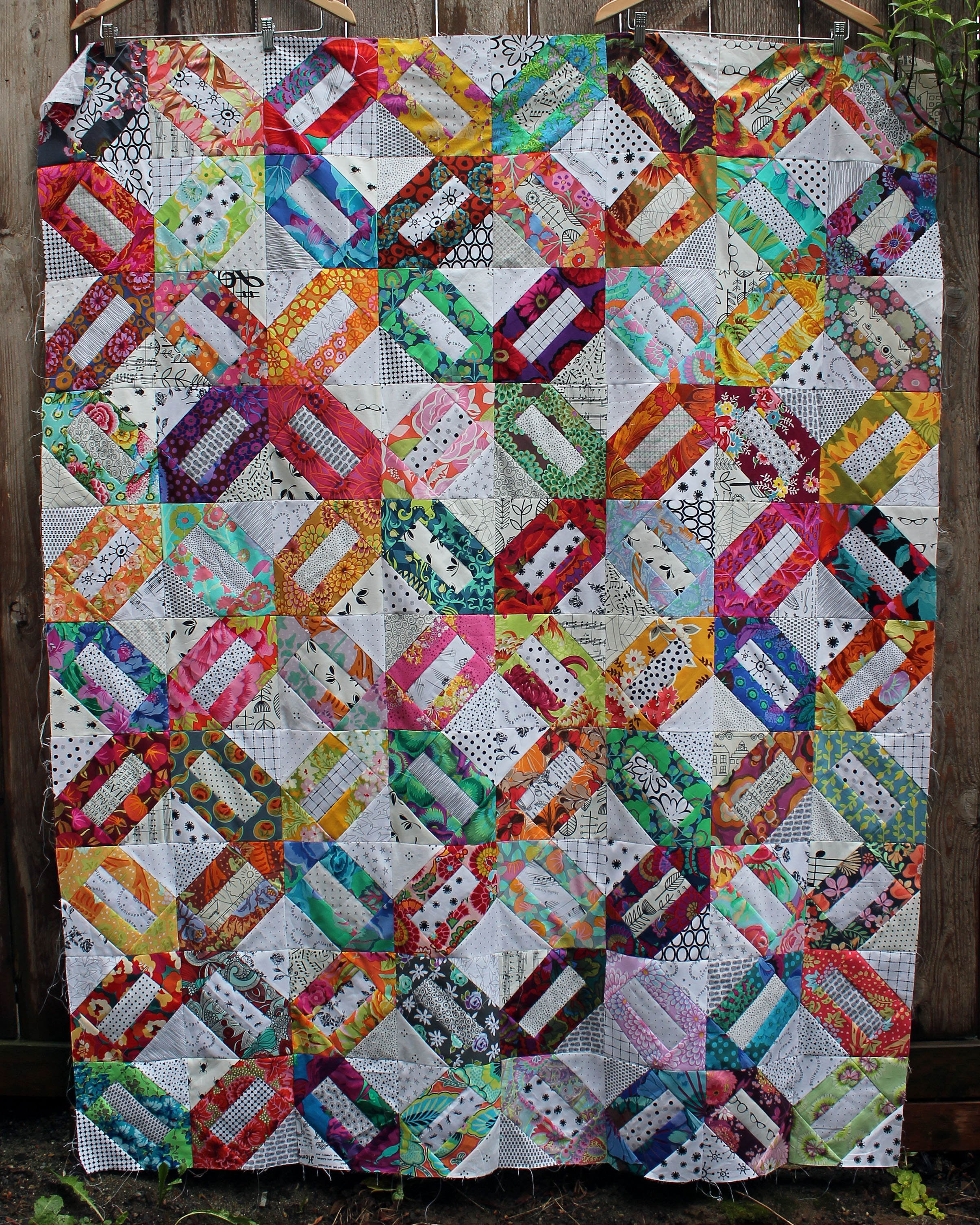 An almost finished friday wombat quilts for Scrap quilt