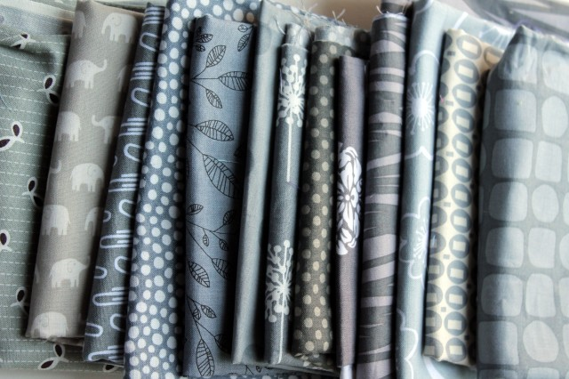 Grey quilting fabric