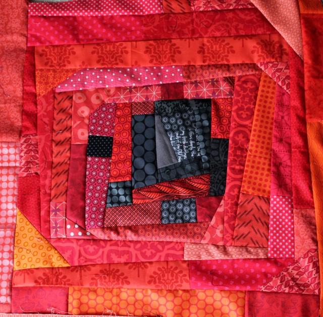 improv poppy quilt