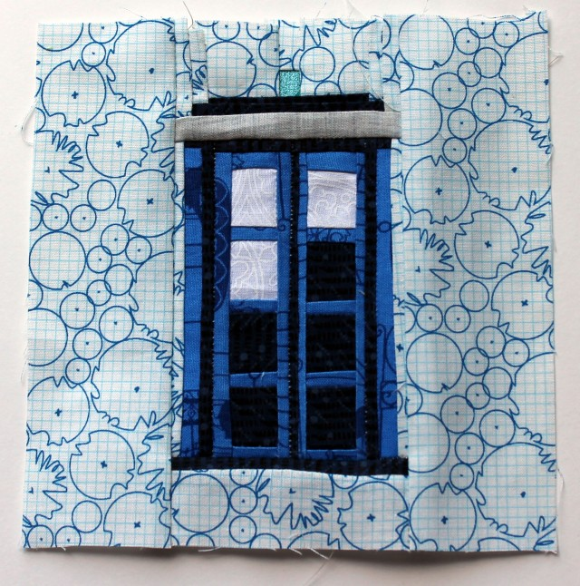 Tardis quilt block