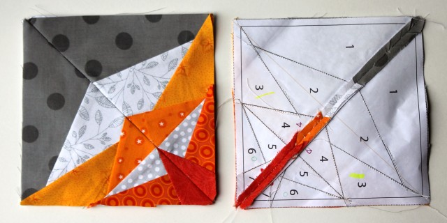 paper piecing block pieces