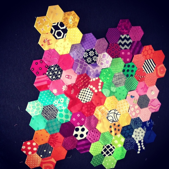 bright scrap hexagon