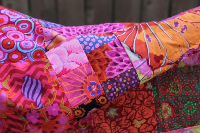 Kaffe Fassett floral quilt top... circa 2008