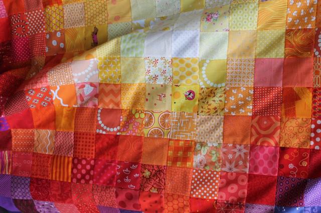 scrap simple quilt top