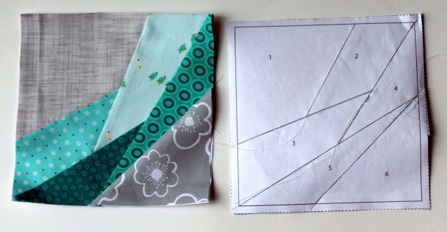 quilt block paper pieces