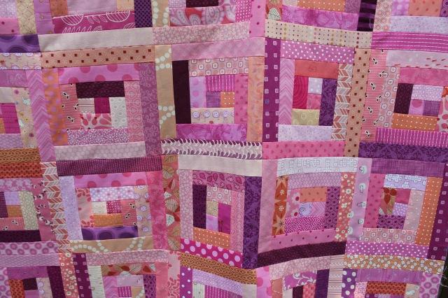 blush quilt detail