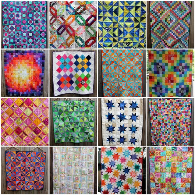 Finished quilt tops mosaic