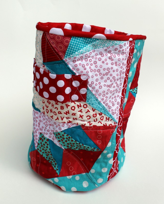 Finsihed quilted bucket