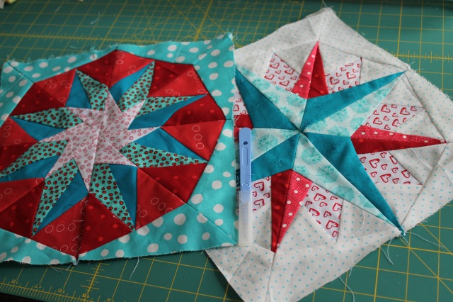 paper pieced star blocks