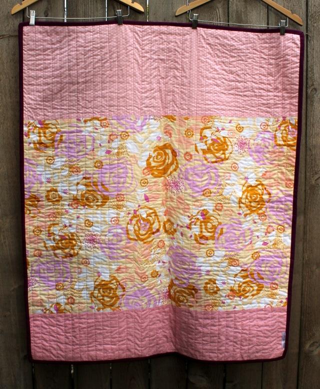 blush quilt back