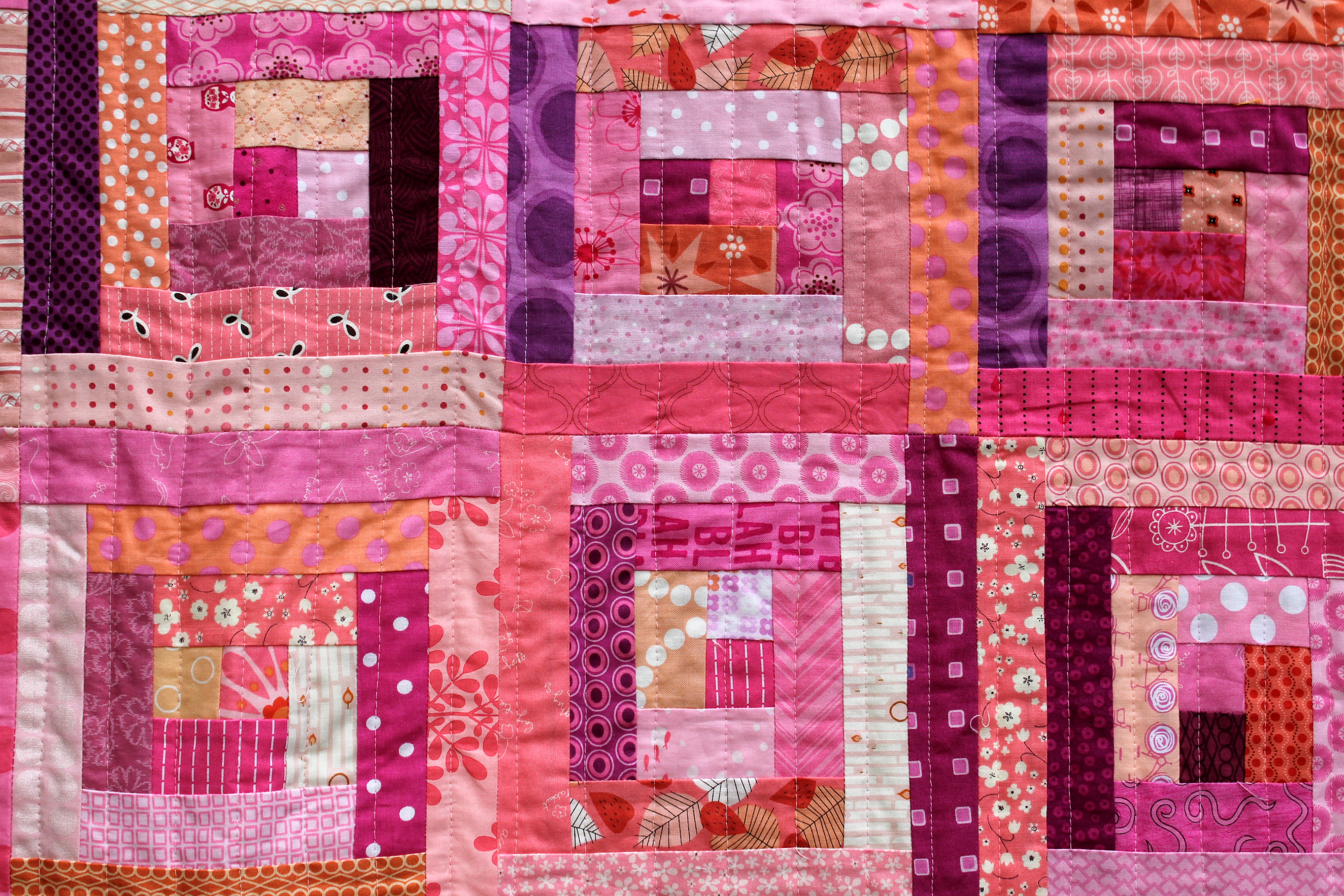Very Impressive portraiture of log cabin WOMBAT QUILTS with #3A0922 color and 4272x2848 pixels