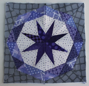 modern paper piecing star block